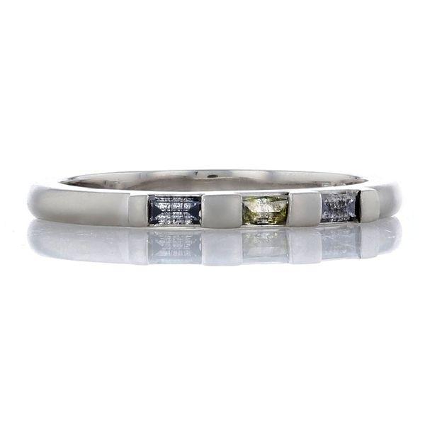 platinum rustic diamond baguette ring