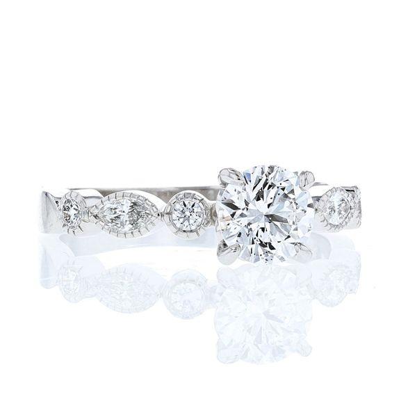 Hidden Heart Engagement Ring