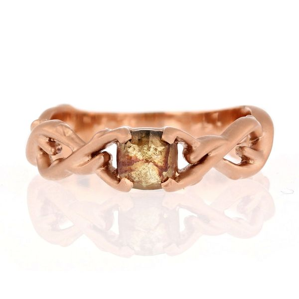 Manzanita tree rustic diamond ring