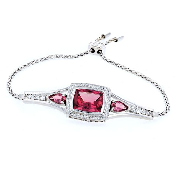 Pink Tourmaline Bolo Bracelet