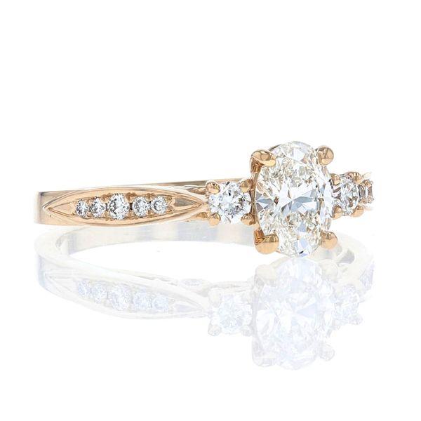 Lab diamond 3 stone oval ring