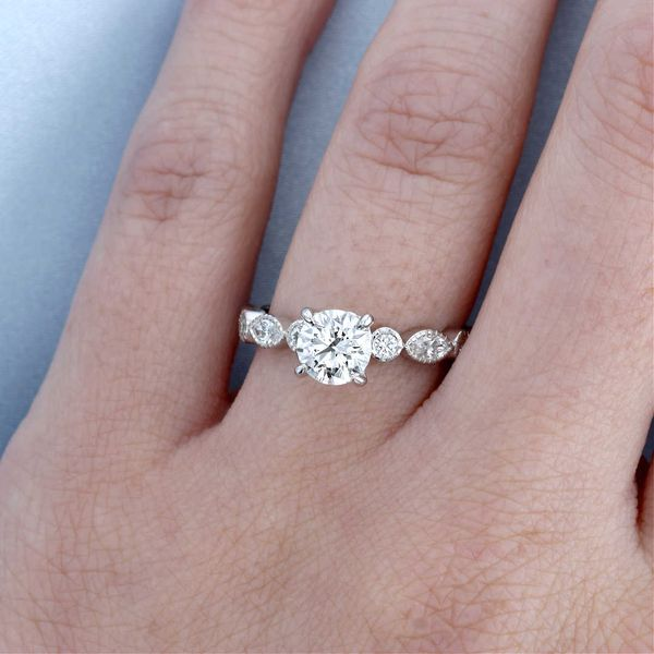 Hidden Heart Engagement Ring