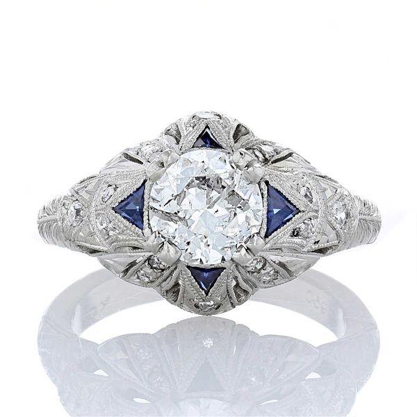 Heirloom Sapphire and Diamond Ring