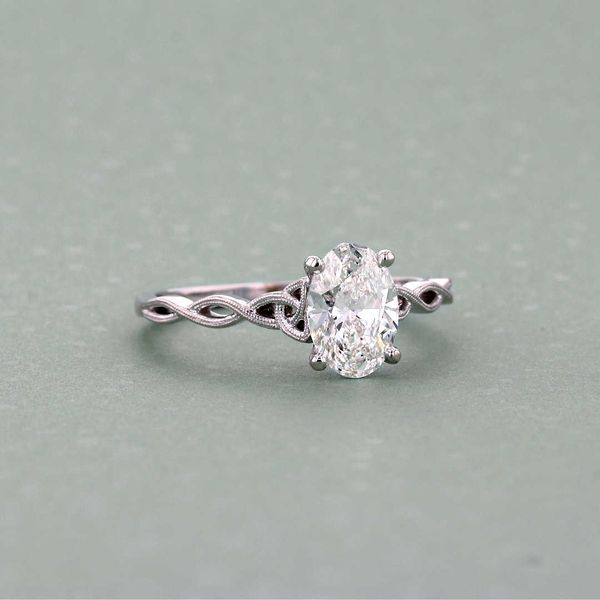 Celtic Oval Engagement Ring