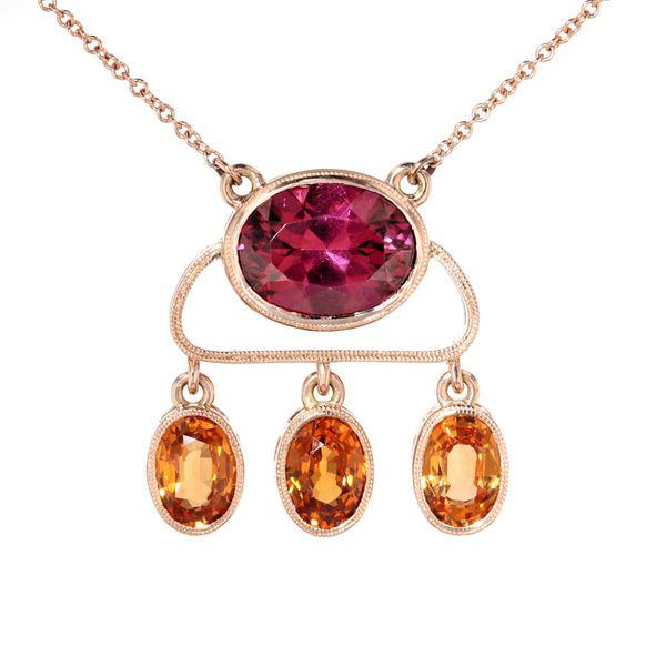 milgrain necklace bezel set