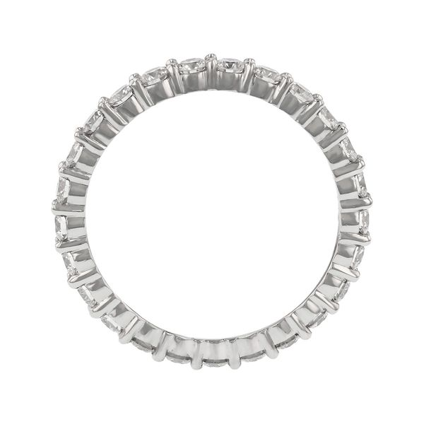 Platinum Diamond Eternity Band Image 2 Fox Fine Jewelry Ventura, CA