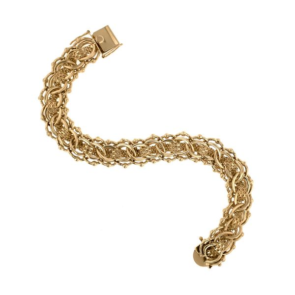 Woven Yellow Gold Bracelet Image 4 Fox Fine Jewelry Ventura, CA