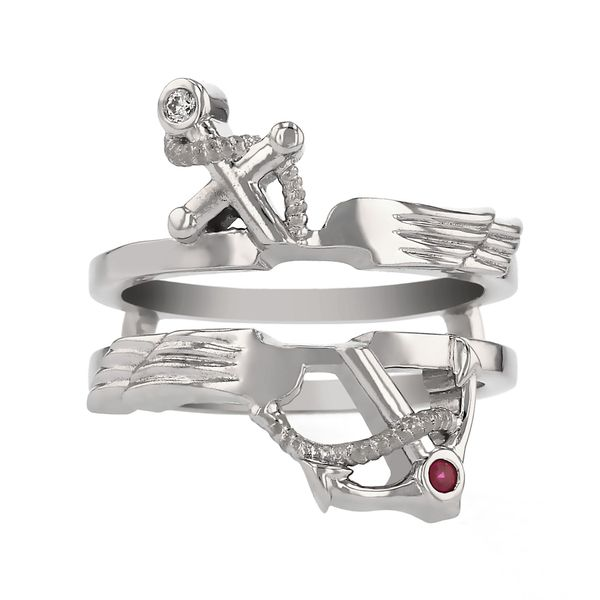 Anchor and Wings Ring Guard Fox Fine Jewelry Ventura, CA