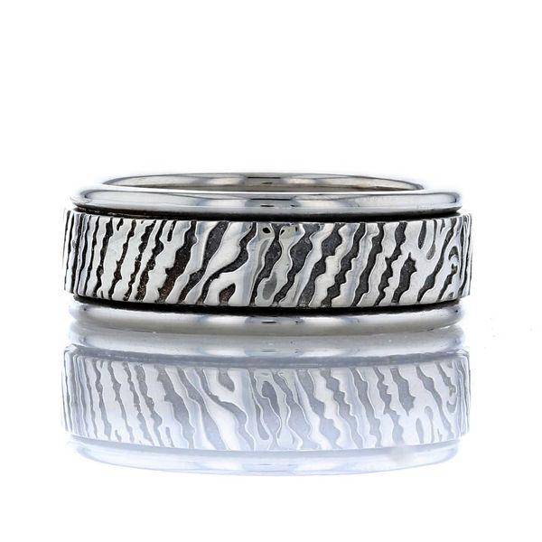 Gent's fingerprint ring in platinum