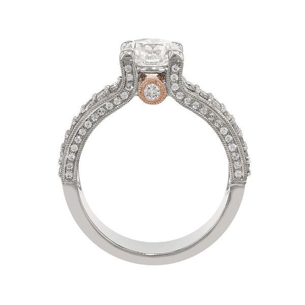Four Row Diamond Engagement Ring Image 3 Fox Fine Jewelry Ventura, CA
