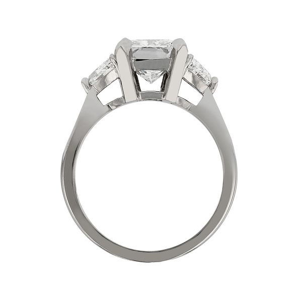 Three Stone Princess Cut Ring Image 3 Fox Fine Jewelry Ventura, CA