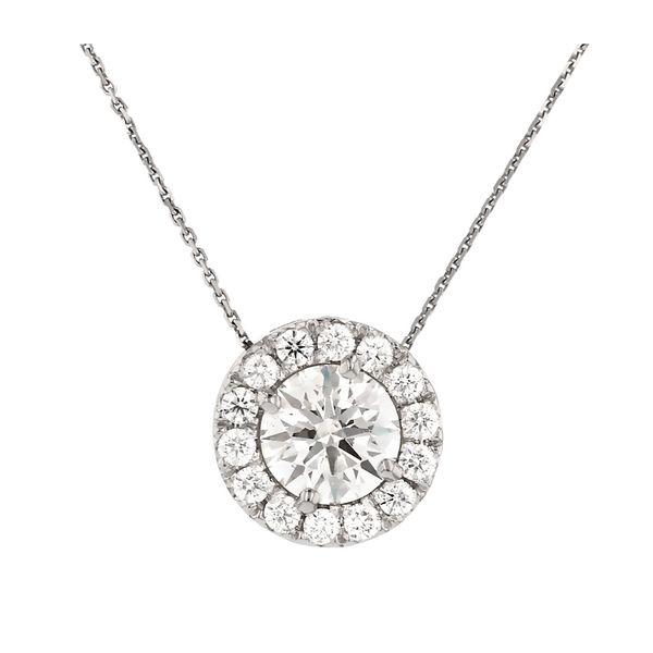 Diamond Halo Circle Pendant Fox Fine Jewelry Ventura, CA