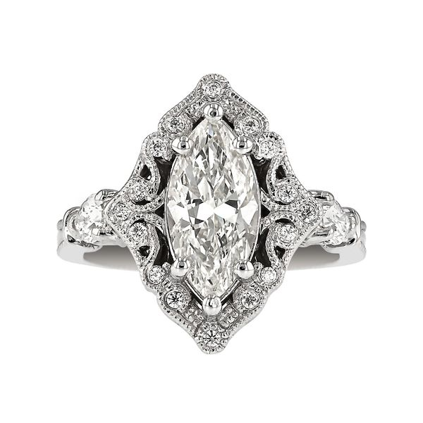 Fancy Halo Marquise Engagement Ring Fox Fine Jewelry Ventura, CA