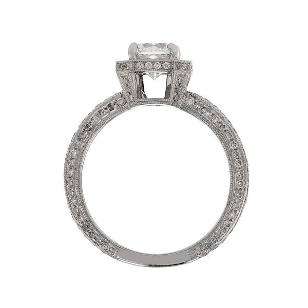 Flanders Halo Peekaboo Diamond Ring Image 2 Fox Fine Jewelry Ventura, CA