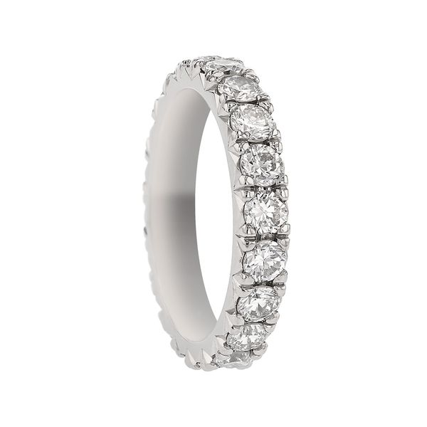 Platinum Diamond Eternity Band Image 2 Fox Fine Jewelry Ventura, CA