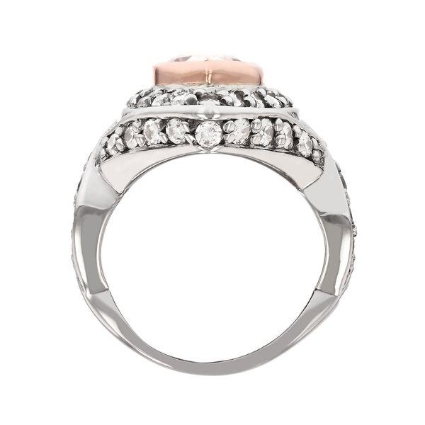 Two Tone Champagne Pear Diamond Ring Image 3 Fox Fine Jewelry Ventura, CA