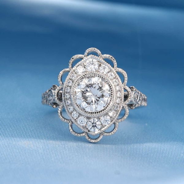 Marquise Scallop Halo Ring