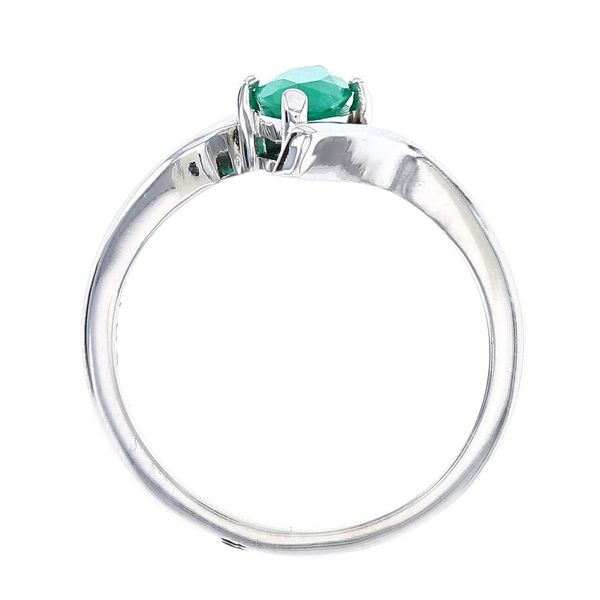 marquise emerald bypass ring