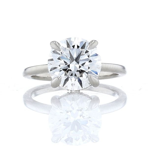 Platinum 2.5ct Hidden Halo Engagement Ring
