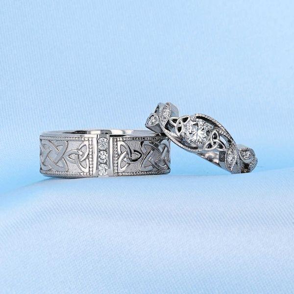 Floral Celtic Engagement Ring