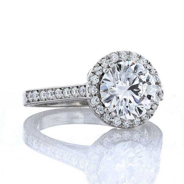 2ct lab grown diamond halo engagement ring
