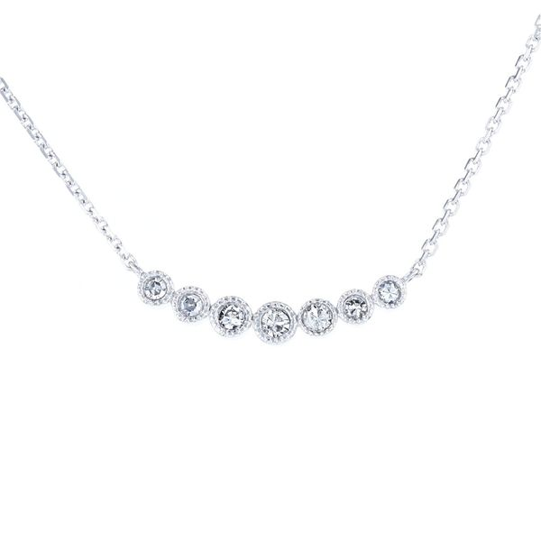smile necklace diamond single cut