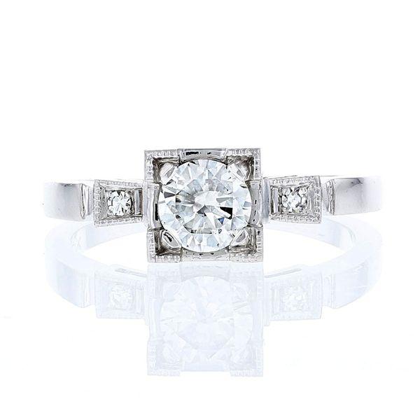 14k remake antique illusion engagement ring