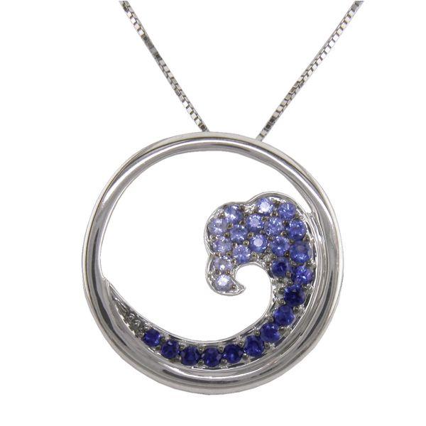 Sapphire Wave Pendant Stephen Gallant Jewelers Orleans, MA