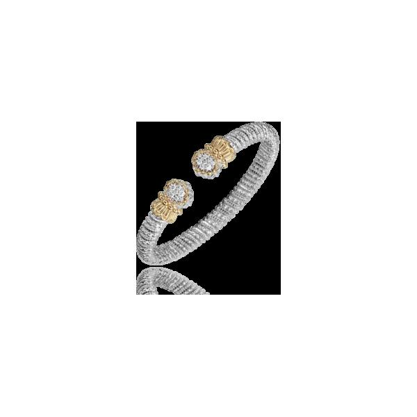 Vahan - 14kt Yellow Gold & Sterling Silver Diamond Open Bracelet  James Gattas Jewelers Memphis, TN