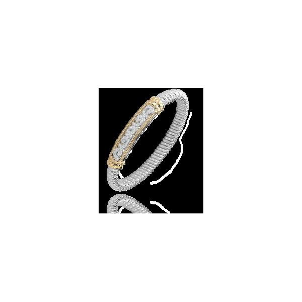 Vahan - 14kt Yellow Gold & Sterling Silver Diamond Closed Bracelet  James Gattas Jewelers Memphis, TN