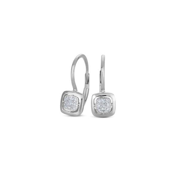 14K White Diamond Earrings George Press Jewelers Livingston, NJ