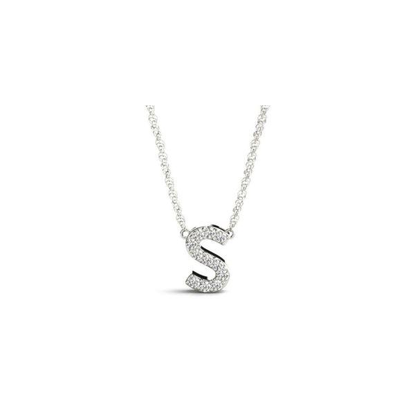 14K Diamond S Necklace George Press Jewelers Livingston, NJ