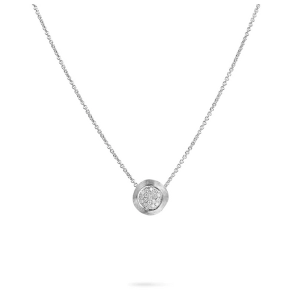 Marco Bicego Delicati White Gold Pendant Necklace With Diamonds George Press Jewelers Livingston, NJ