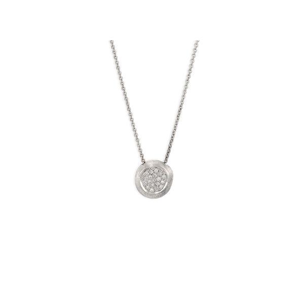 Marco Bicego Delicati White Gold Pendant Necklace With Diamonds George Press Jewelers Livingston, NJ