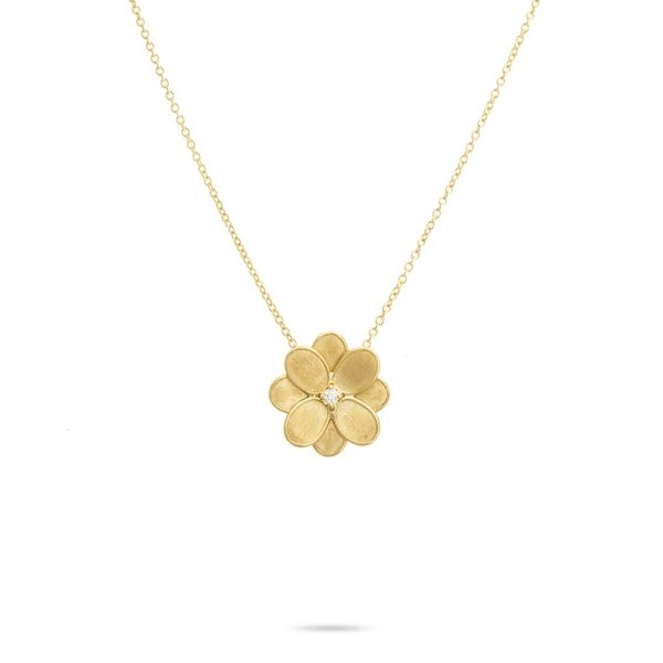 Marco Bicego® 18K Petali Small Flower Pendant Necklace George Press Jewelers Livingston, NJ