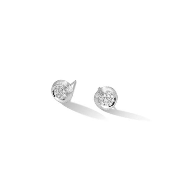 Marco Bicego 18K Jaipur Diamond Pave Stud Earrings George Press Jewelers Livingston, NJ