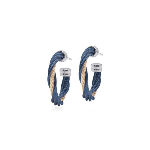 ALOR Cable Twist Hoop Earrings George Press Jewelers Livingston, NJ