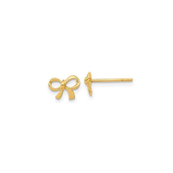 14K Bow Earrings George Press Jewelers Livingston, NJ