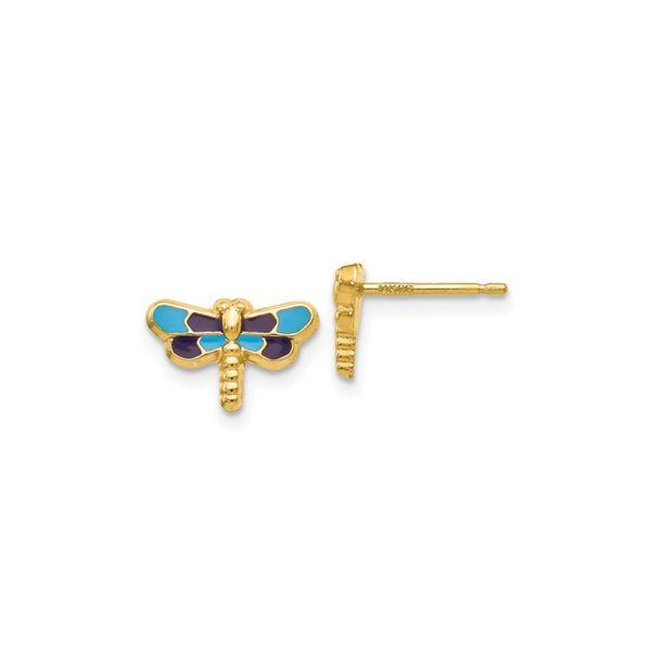 14k Enameled Dragonfly Earrings George Press Jewelers Livingston, NJ