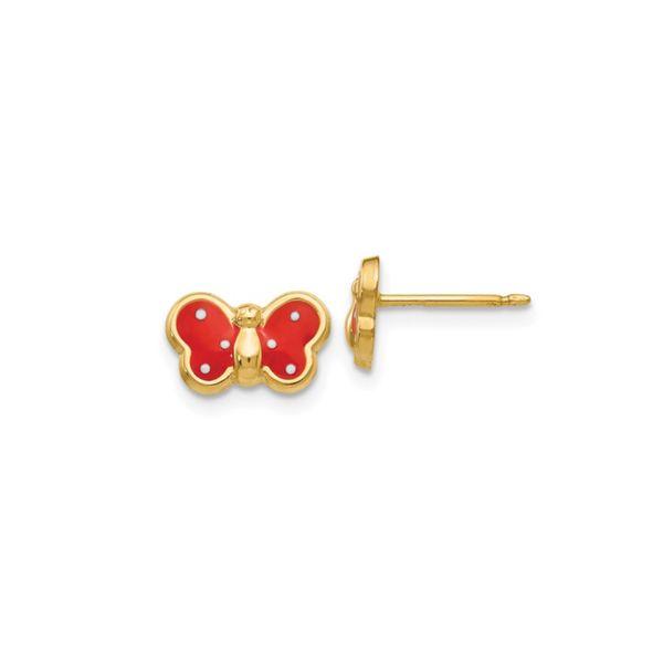 14k Enameled Butterfly Earrings George Press Jewelers Livingston, NJ