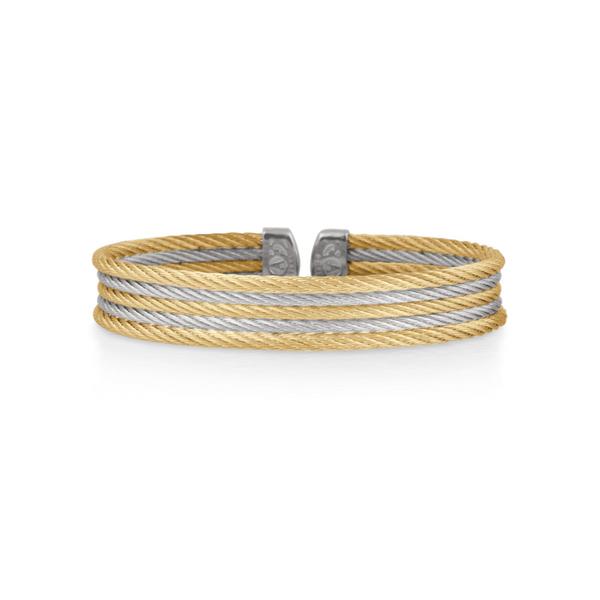 ALOR Grey & Yellow Cable Mini Cuff George Press Jewelers Livingston, NJ
