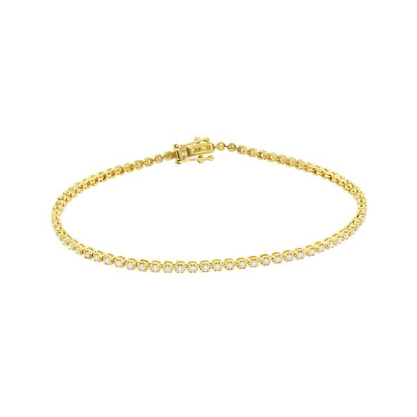 14K Yellow Gold Diamond Tennis Bracelet George Press Jewelers Livingston, NJ