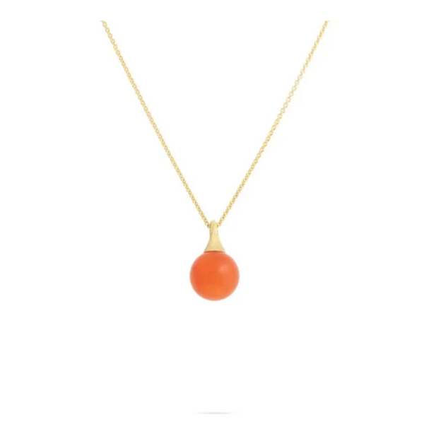 Marco Bicego 18K Yellow Gold & Red Coral Necklace George Press Jewelers Livingston, NJ