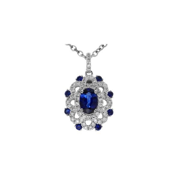 Greg Ruth 18KT Blue Sapphire Pendant George Press Jewelers Livingston, NJ
