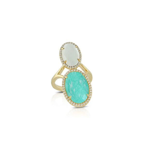 DOVES White Topaz & Turquoise Ring George Press Jewelers Livingston, NJ