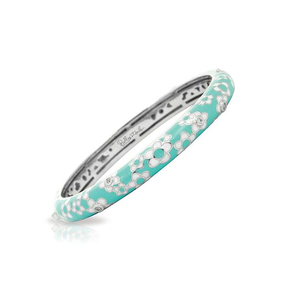 Belle Étoile Dasies Bangle in Aquamarine George Press Jewelers Livingston, NJ