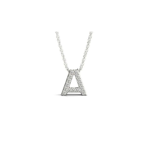 14K Diamond A Necklace George Press Jewelers Livingston, NJ