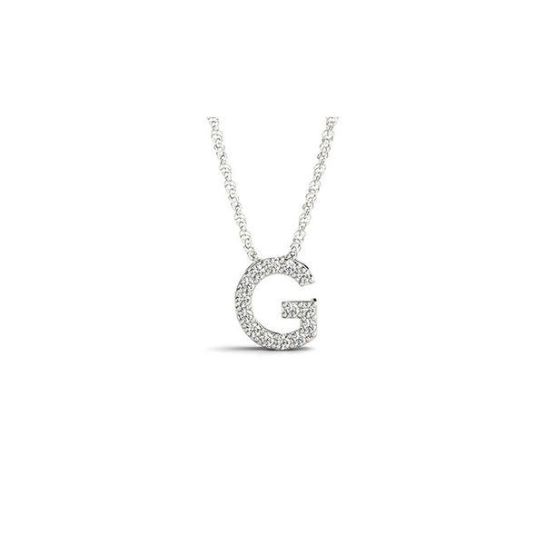 14K Diamond G Necklace George Press Jewelers Livingston, NJ