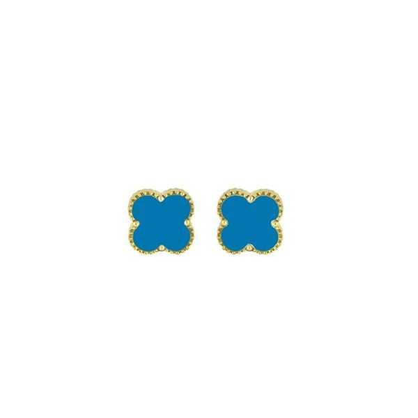 Yellow 14K Turquoise Earrings George Press Jewelers Livingston, NJ