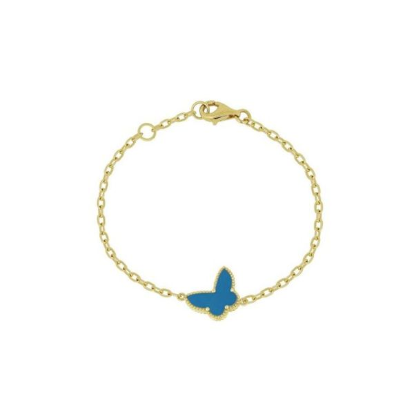 Yellow 14K Turquoise Butterfly Bracelet George Press Jewelers Livingston, NJ